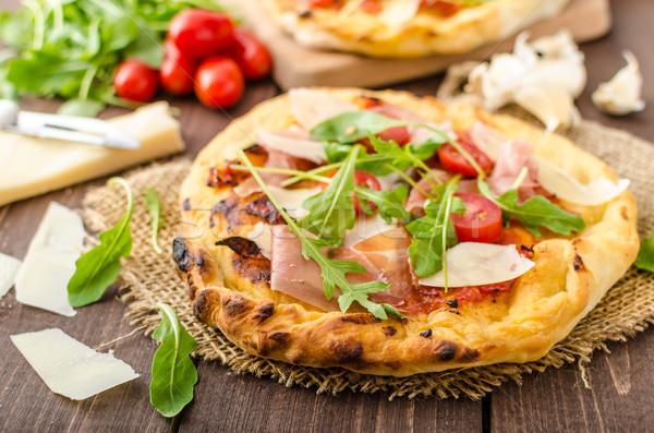イタリア語 ピザ パルメザンチーズ プロシュート 小 ストックフォト © Peteer