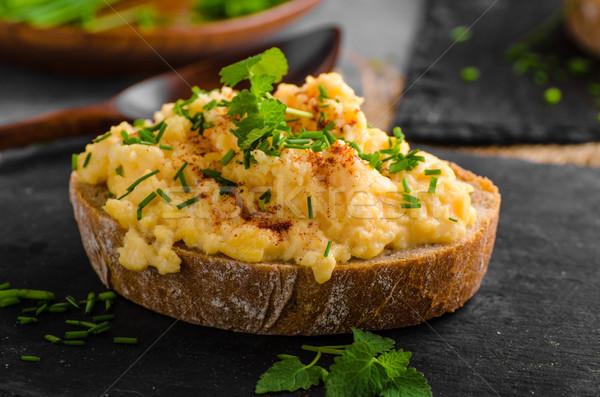 Eieren chili kruiden voedsel tabel groene Stockfoto © Peteer