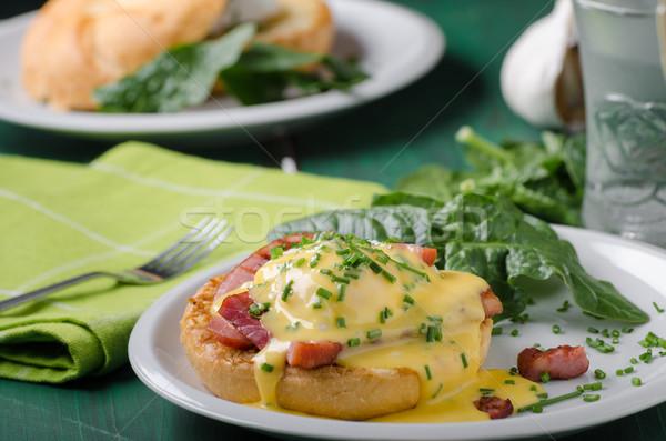 яйцо продовольствие хрустящий бекон складе фотографии Сток-фото © Peteer