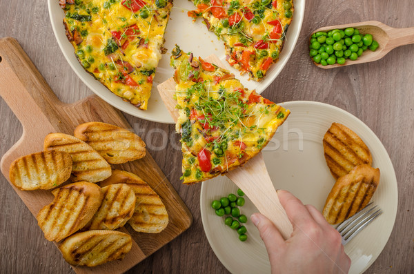 Vegetarian frittata Stock photo © Peteer
