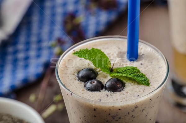Blueberries milk shake Stock photo © Peteer