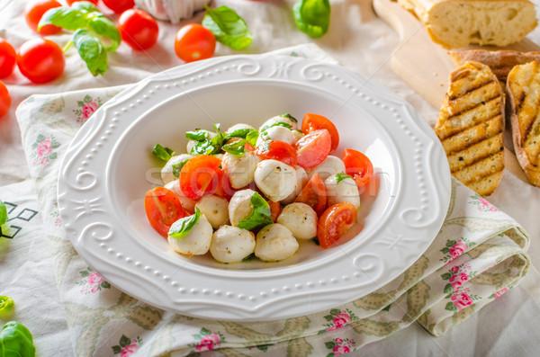 итальянский Салат мини моцарелла помидоров Сток-фото © Peteer