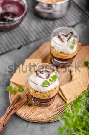 Cheesecake in glass Stock photo © Peteer