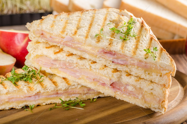 Panini fromages jambon Toast fraîches pomme Photo stock © Peteer