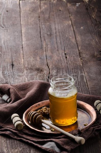 Miodu rustykalny fotografii żywności reklama czas Zdjęcia stock © Peteer