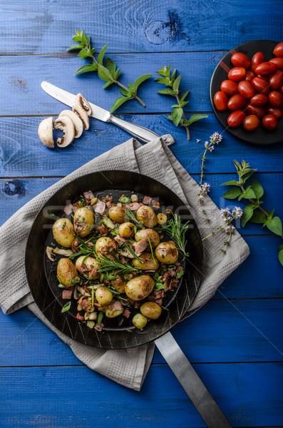 カウボーイ ベーコン ハーブ 新しい 食品 ストックフォト © Peteer
