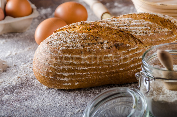 Homemade sourdough bread rustic Stock photo © Peteer