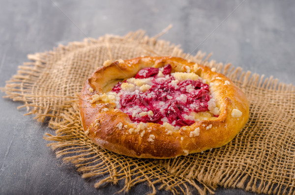 Crubmle mini pie with berries Stock photo © Peteer
