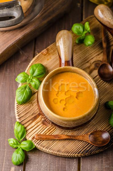 Vegetable tomato soup delish Stock photo © Peteer