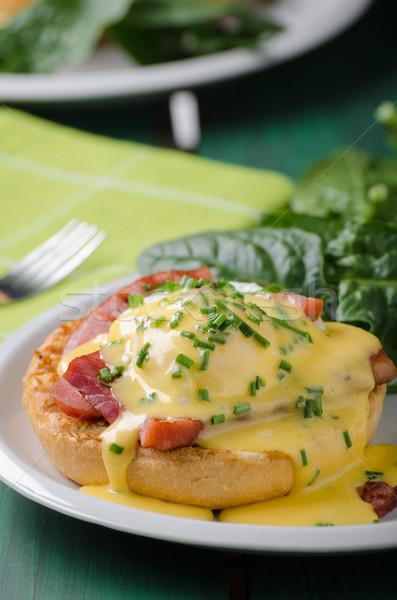 Yumurta gıda domuz pastırması stok fotoğrafçılık Stok fotoğraf © Peteer
