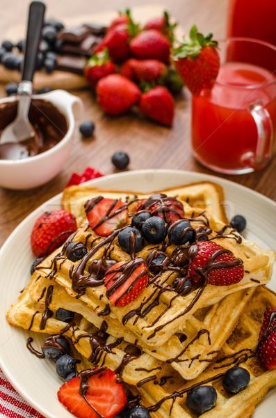 Stok fotoğraf: Yaban · mersini · çilek · kapalı · çikolata · ev · gıda