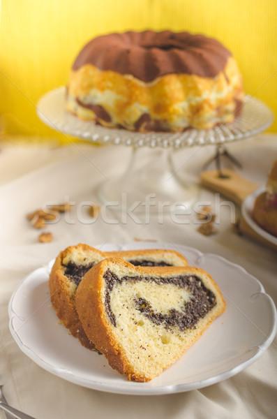 Pipacs magok torta töltött házi készítésű ahogy Stock fotó © Peteer