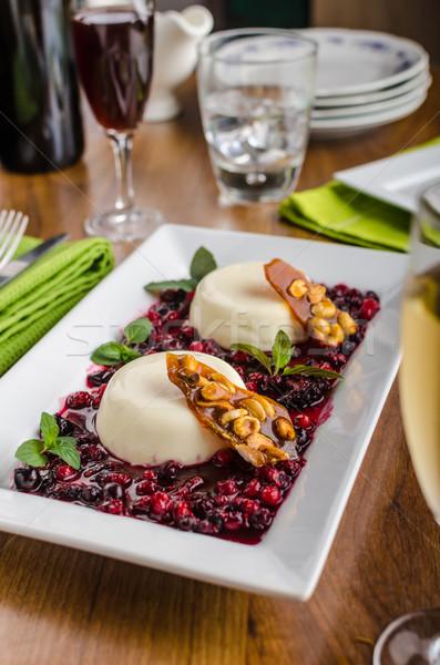Stockfoto: Vanille · bos · vruchten · karamel · chips · restaurant