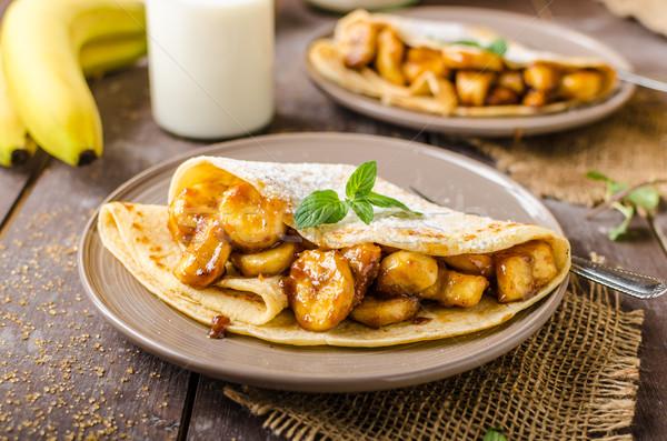 фаршированный бананы орехи продовольствие обеда Сток-фото © Peteer