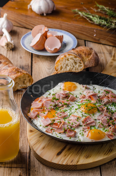 Ham and egg omelet Stock photo © Peteer