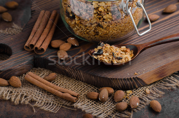 Baked granola with berries Stock photo © Peteer