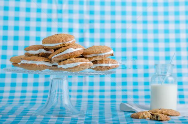 Homemade Oatmeal Cream Pie Cookies Stock photo © Peteer