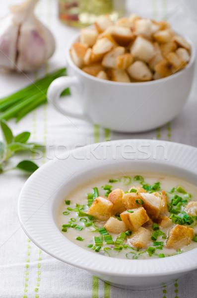 Ail soupe ciboulette bio Photo stock © Peteer