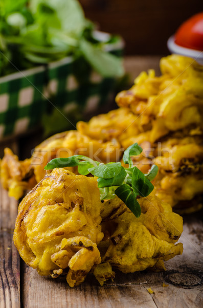 Crispy Onion Bhaji Stock photo © Peteer