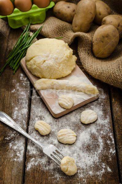 Preparing gnocchi Stock photo © Peteer