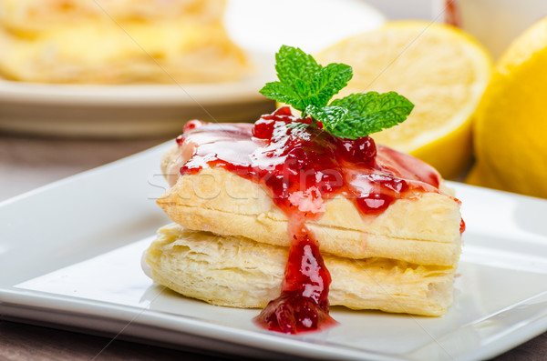 Stock photo: Cake from flaky pastry