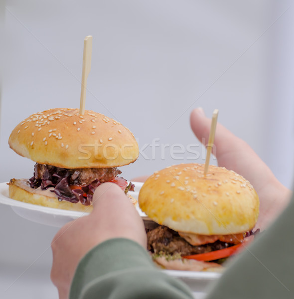 Beef burger with herb butter Stock photo © Peteer