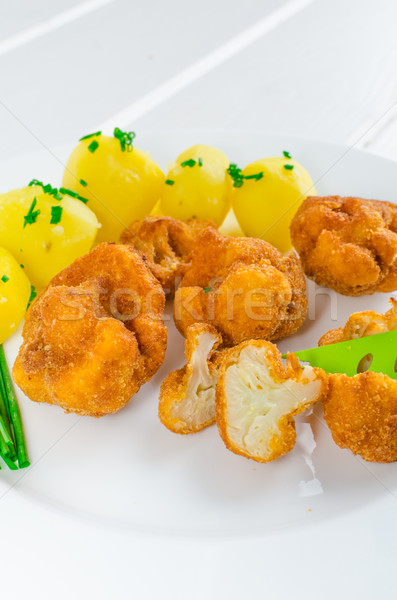 Fried cauliflower Stock photo © Peteer