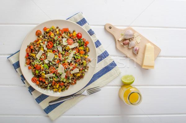Warm salade bio gezonde gezonde voeding Stockfoto © Peteer