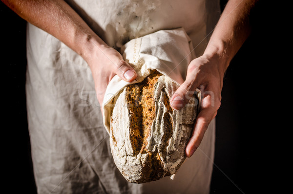 Homemade bread rustic sourdough Stock photo © Peteer