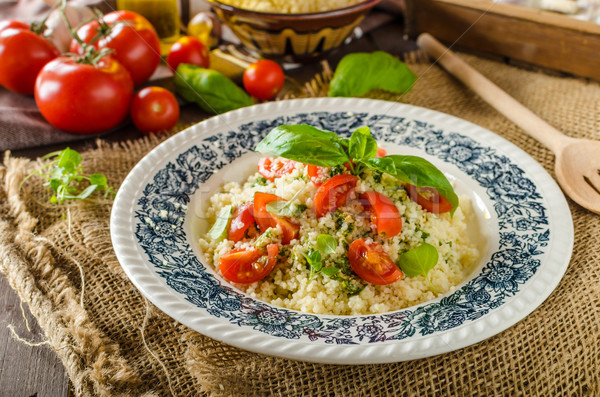 Couscous with pesto Stock photo © Peteer