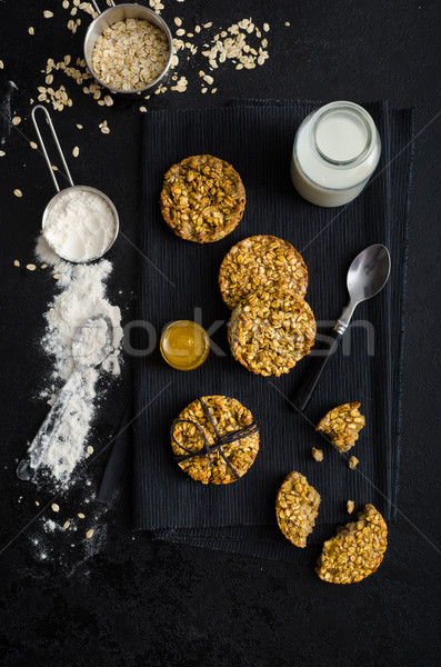 Banana cookies with flakes and honey Stock photo © Peteer