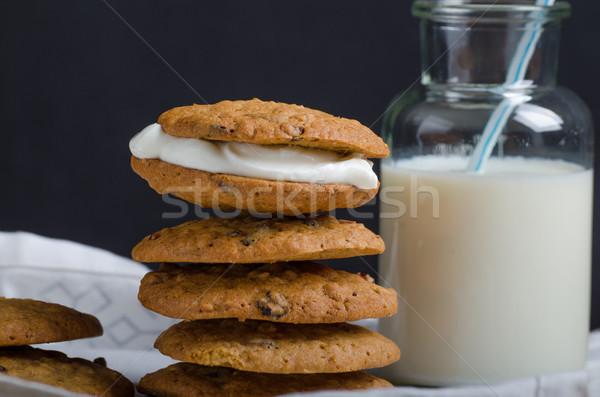 домашний кремом пирог Cookies сливочный Сток-фото © Peteer
