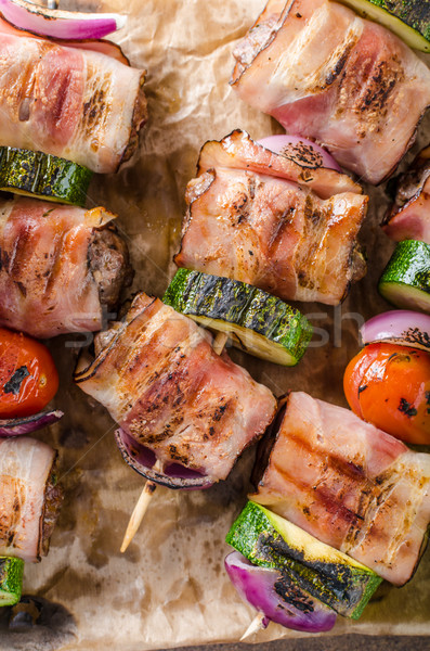 Grilled beef skewers Stock photo © Peteer
