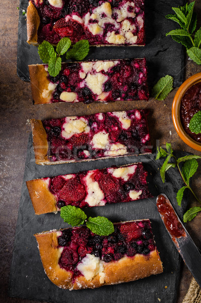 Traditional Czech crumble with berries Stock photo © Peteer
