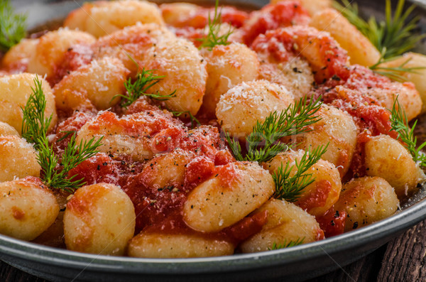 Gnocchi tomato sauce herbs Stock photo © Peteer