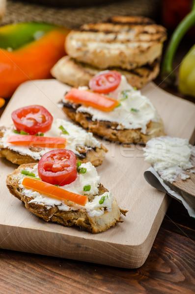 здорового багет сыра растительное травы продовольствие Сток-фото © Peteer