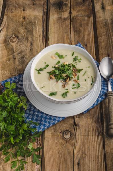 Cauliflower soup with blue cheese Stock photo © Peteer
