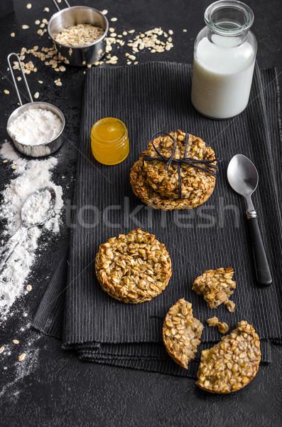 Plátano cookies miel leche ingredientes Foto stock © Peteer