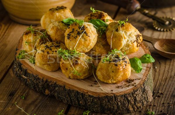 Queijo azul pimenta forno delicioso Foto stock © Peteer