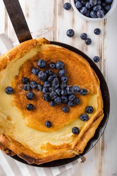 Pannenkoek gebakken oven ijzer baby plaat Stockfoto © Peteer