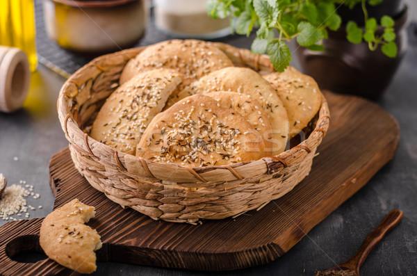 Eigengemaakt komijn eenvoudige heerlijk voedsel kaas Stockfoto © Peteer