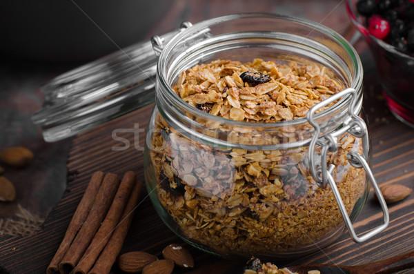 Gebakken bessen eenvoudige maaltijd achtergrond Stockfoto © Peteer