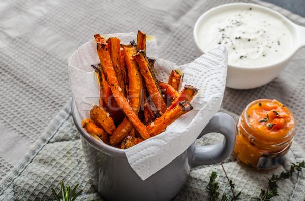Egészséges zöldség sültkrumpli sültkrumpli zeller répák Stock fotó © Peteer