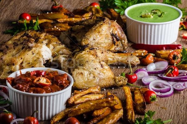 Piri piri spicy chicken Stock photo © Peteer