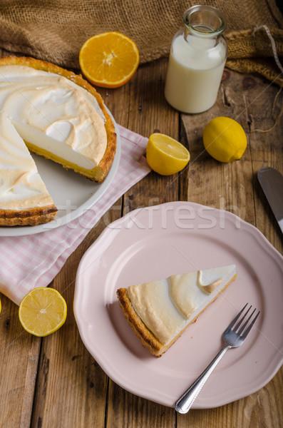 лимона чизкейк простой торт деревенский Сток-фото © Peteer