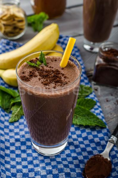 Smoothie összes természetes étel csokoládé ital Stock fotó © Peteer