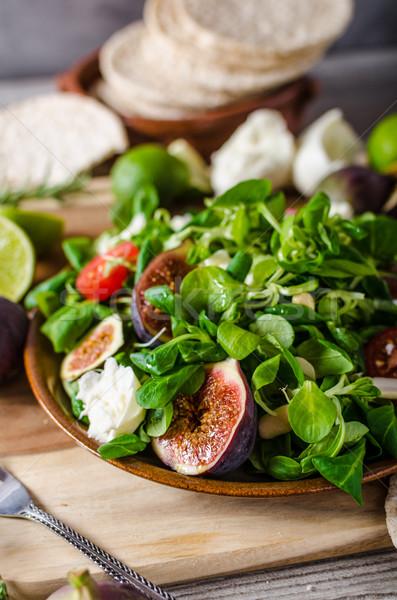 レタス サラダ 単純な 新鮮な 夏 ストックフォト © Peteer