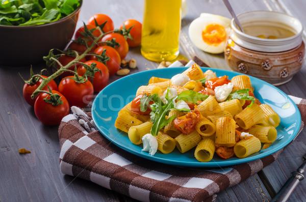 パスタ トマト 新鮮な ハーブ 先頭 ストックフォト © Peteer