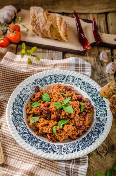 Chilli con carne Stock photo © Peteer