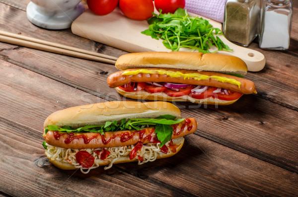 Variation rot heißen Hunde Zwiebel Tomaten Stock foto © Peteer